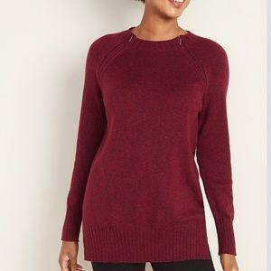 Maternity Hidden Zipper Nursing Tunic Sweater